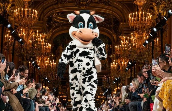 Как Стелла Маккартни превратила свой показ в крутую зоозащитную акцию на парижской Неделе моды