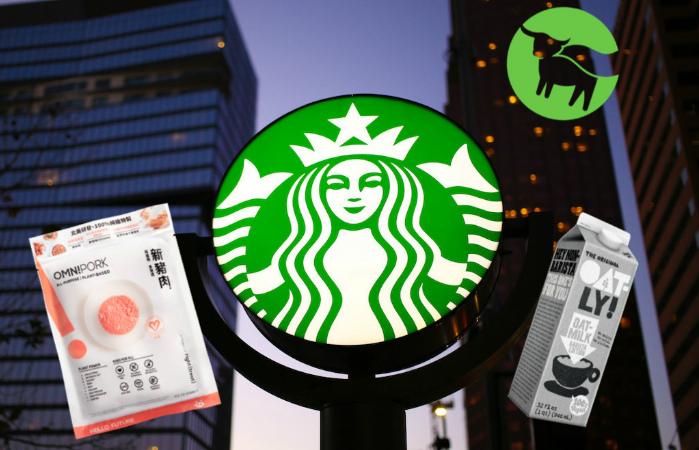 Китайский Starbucks запускает новое веганское меню с растительным мясом Beyond Meat и Omnipork, а также овсяным молоком Oatly